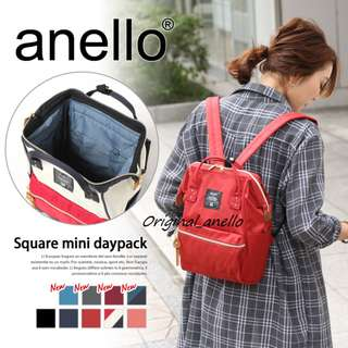 MOVING OUT SALES ! Model :  AT-B0193B Authentic Anello Mini Polyester Canvas Backpack