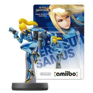 Nintendo Amiibo Zero Suit Samus Figure Wii U 3DS