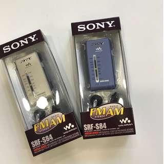 Sony SRF-S84 AM/FM 收音機, DSE 聆聽考試必備, 99% new  $410 EACH