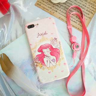 ⚠ Pre-order!! Cartoon characters with Disney Princess Ariel Phone Cover Now For iPhone 6, 6S Plus, 7, 7 Plus, 8 & 8 Plus & X!