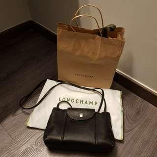 Aunthentic Longchamp Le Pliage Cuir Cross Body Bag