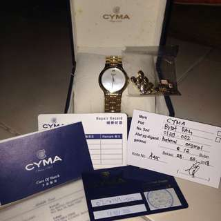 CYMA 1862 GOLD STRAP WITH DATE COMPLETE SET SERI 0139-002