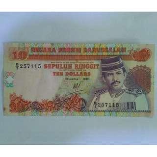 SEPULUH RINGGIT / TEN DOLLRS BRUNEI