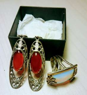 [URGENT!] Vintage Handmade 925 Sterling Silver Earrings and Ring