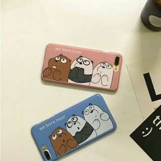 ⚠ Pre-order! Cute We Bare Bears half wrapped Hard Phone Cover For iPhone 6, 6S, 6 plus, 6S Plus, 7 and 7 Plus, 8 and 8 Plus only!