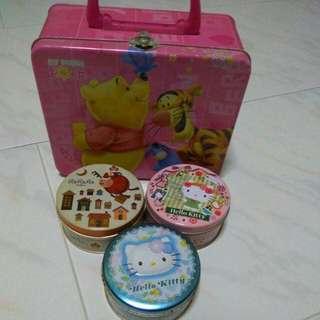 Hello Kitty Winnie The Pooh Tin Box