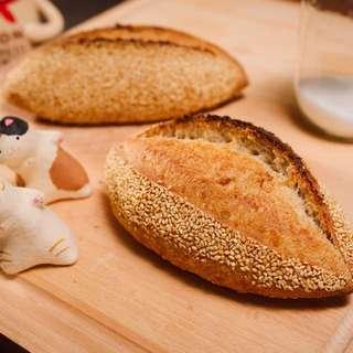 🚚 「麦䅘」-芝麻白燒酸種麵包