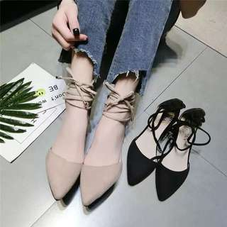 2018 heels shoes with a Korean version of shallow pointed high heels women's spring shoes