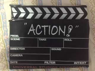 Pouch - lights camera action clapboard