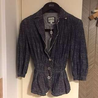 Armani leather jacket blazer 真皮 外套 羊皮