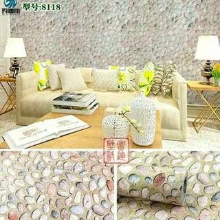 Wallpaper motif batu