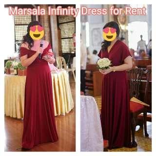 Marsala Infinity Dress for Rent