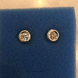 Donut Diamond White Gold Earrings