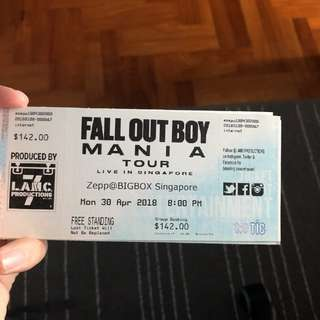 Selling Fall Out Boy Concert Tickets (3pcs)