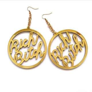 ASS OH  RICH BITCH EARRINGS /RICH BITCH耳環