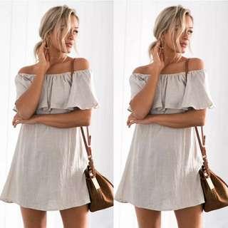 PO / Basic Off Shoulder Dress