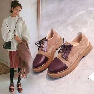 (35~40) 2018 British style women's shoes soft sister college students wind chic small shoes women's sole single shoes Carrefour shoes