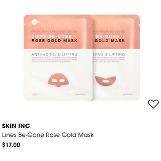 Skin Inc Lines Be-Gone Rose Gold Mask