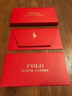 POLO RALPH LAUREN RED POCKET SET 利是封 8個