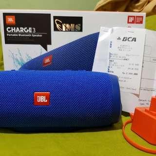 JBL Charge 3 Waterproof Bluetooth Speaker [Blue]
