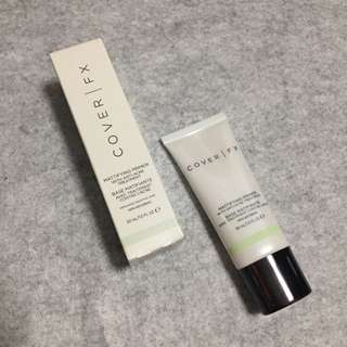 Cover fx mattifying primer with acne-acne treatment