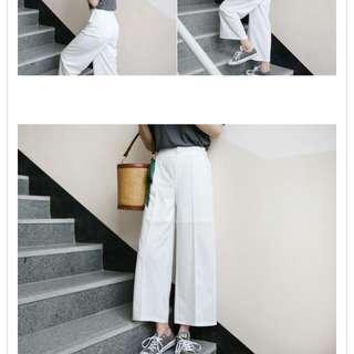 白色寬褲🔥正韓