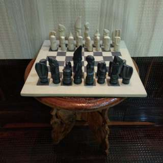 Antique Hand made Marble Chess Board Game Set