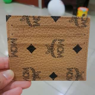 Card holder MCM leather