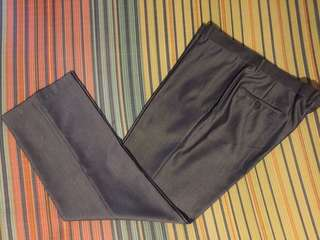 Slacks for Men Black with Small Pinstriped details  Size 40