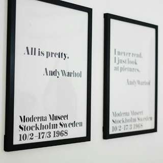 Andy Warhol Canvas print quotes Replica