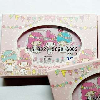 限量版Hello Kitty X My Melody & Little Twin Stars 40週年 VISA Gift卡夢幻套裝