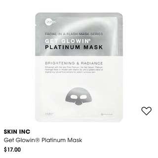 Skin Inc Get Glowin Platinum Mask