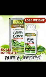 Purely Inspired Green Coffee 800mg For Lose Weight