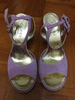 正品 Gucci 紫色高跟鞋 35C 🈹清貨