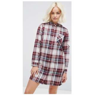 全新真品 Jack Wills Maggie Classic Shirt Check Dress