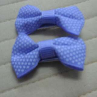 Girls Hair Clip - Purple Polkadot