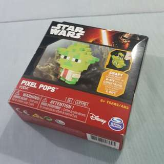 Legit Brand New With Box Spin Master Disney Star Wars Yoda Pixel Pops Toy Figure