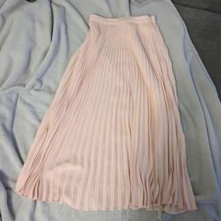 Forever21 chiffon pleated skirt