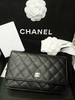 Chanel woc荔枝皮金扣