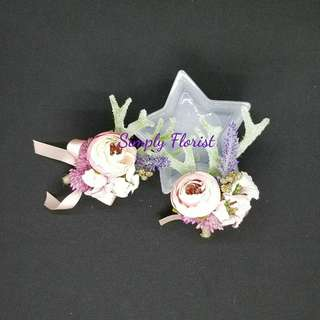 wedding silk corsage (Pink#9) - 結婚手花 胸花襟花