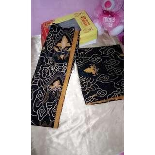 Bahan batik motif mega mendung batik tulis (jadul) uk 5 meter