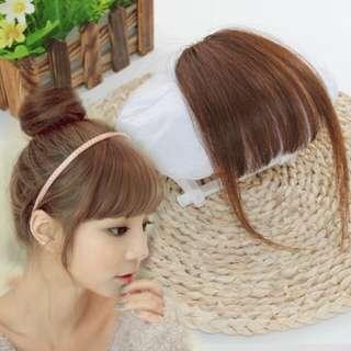 Hair clip medium + side bang (brown/coklat)