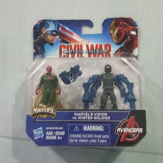 Legit Brand New With Damaged Box Hasbro Marvel Avengers Civil War Captain America Vision Winter Soldier