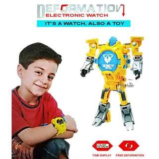 Robot Watch 2 Mode Transformers Watch Deformation Watch Robot Toys