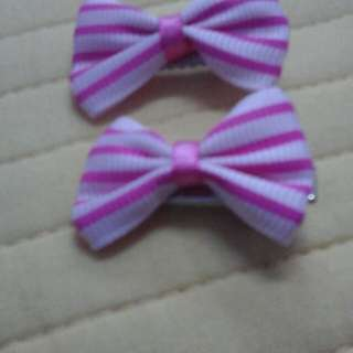 Girls Hair Clip - Pink Stripes