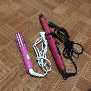 Curling Iron and Curling comb