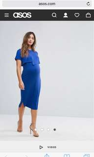 ASOS & You Nursing Overlay Bodycon Midi Dress