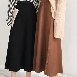 高腰針織長裙