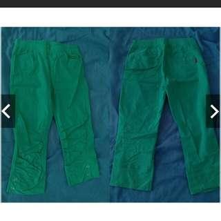 二手-糖果綠七分褲(實品要比照片在螢光點)