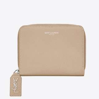 SAINT LAURENT Compact Rive Gauche Zip Wallet